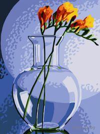 """Картина по номерам """"Фрезия в вазе"""" (400х300 мм)"""