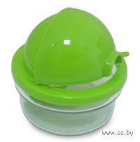 Сахарница стеклянная с пластмассовой крышкой (415 мл), ложка пластмассовая