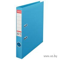 Папка-регистратор А4 с арочным механизмом, 50 мм (ПВХ, светло-голубая)
