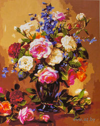 """Картина по номерам """"Розы и пионы"""" (500x650 мм; арт. MMC038)"""