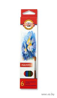 Карандаши акварельные (6 цветов)