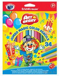 "Карандаши цветные ""Artberry. Jumbo"" (34 цвета; с точилкой)"