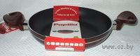 Сковорода алюминиевая с антипригарным покрытием (бордовая; 24 см; арт. FA.EP.24-2)