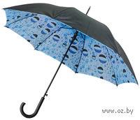 Зонт полуавтоматический с двухслойным куполом