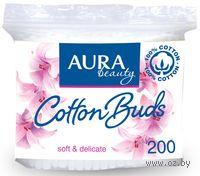 """Ватные палочки """"Aura"""" в пакете (200 штук)"""