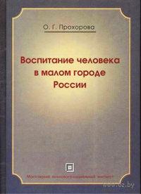 Воспитание человека в малом городе России. Оксана Прохорова