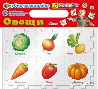 Овощи. Кубик-развивайка (6 элементов)
