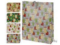 """Пакет бумажный подарочный """"Новогодний подарок"""" (33*9,6*41 см)"""