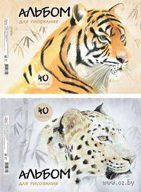 """Альбом для рисования """"Wild Cats"""" (А4; 40 листов)"""