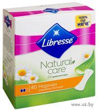 """Женские ежедневные прокладки Libresse Natural Care """"Normal"""" (40 шт)"""