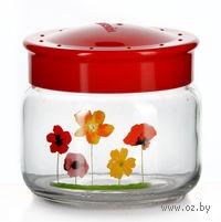 Банка для сыпучих продуктов стеклянная с пластмассовой крышкой (400 мл, арт. 171011)