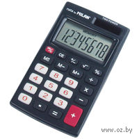 Калькулятор (8 разрядов, темно-серый)