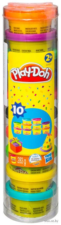 """Тесто для лепки """"Play-Doh. Праздничный"""" (10 цветов)"""