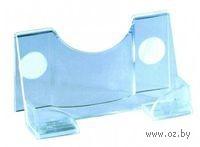 Подставка для визиток (прозрачно-голубая)