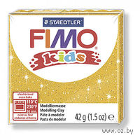"""Глина полимерная """"FIMO Kids"""" (блестящий золотой; 42 г)"""