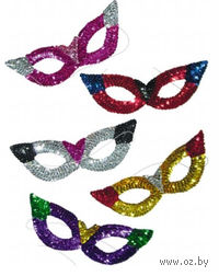 Маска карнавальная разноцветная