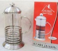 Кофейник с прессом, стекло/металл, 1000 мл (арт. YM-009/1000)