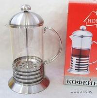 Кофейник с прессом, стекло/металл, 1000 мл (арт. YM-001/1000)