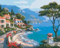 "Картина по номерам ""Средиземноморский залив"" (400x500 мм; арт. VS063)"