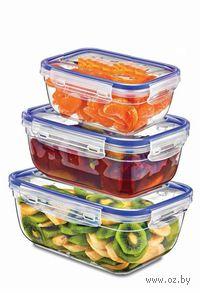 Набор контейнеров для продуктов (3 шт., 400/800/1400 мл)