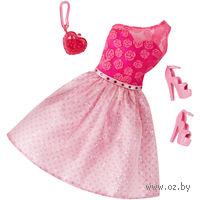 """Одежда для куклы """"Барби. Гламур. Розовое платье с аксессуарами"""" (арт. CLR32)"""
