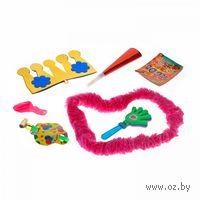 Набор карнавальный (конфетти, шарик, украшение на шею, дудка, язычок, корона)
