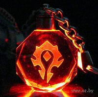 """Брелок с подсветкой - """"World of Warcraft. Символ орды"""""""