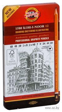 """Набор карандашей графитовых """"1582 FSC Pure 6B-6Н"""" (12 шт.)"""