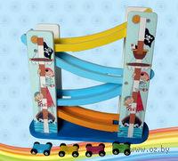 """Развивающая деревянная игрушка """"Серпантин. Автомобили"""" (4 уровня)"""