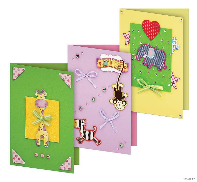Набор для изготовления открытки клевер первые открытки, крещение детские