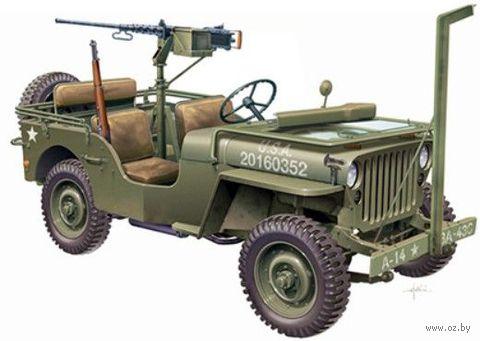 """Автомобиль """"WILLYS JEEP with M2 Machine Gun"""" (масштаб: 1/24) — фото, картинка"""