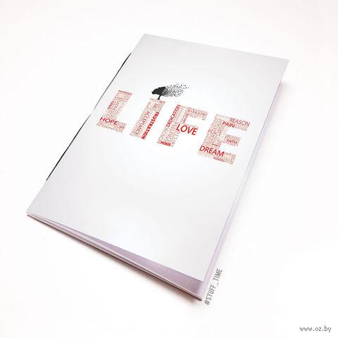 """Блокнот белый """"Life"""" А6 (397)"""