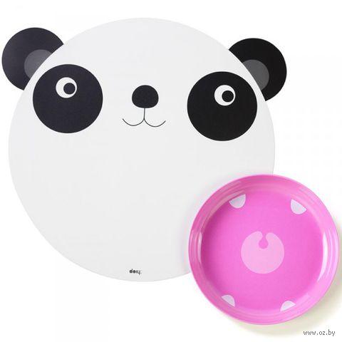 """Коврик и миска """"Hungry panda"""""""