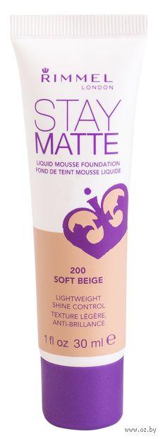 """Тональный крем для лица """"Stay Matte"""" (тон: 200) — фото, картинка"""