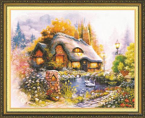 """Алмазная вышивка-мозаика """"Сказочный домик"""""""