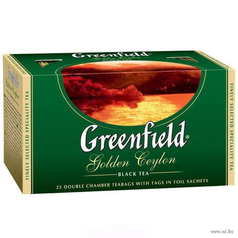 """Чай черный """"Greenfield. Golden Ceylon"""" (25 пакетиков) — фото, картинка"""