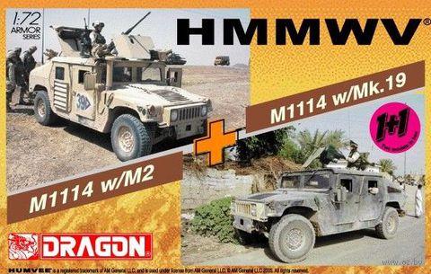 """Набор миниатюр """"M1114 Up Armor w/M2 & M1114 Up Armor w/Mk.19 Twin Pack"""" (масштаб: 1/72) — фото, картинка"""
