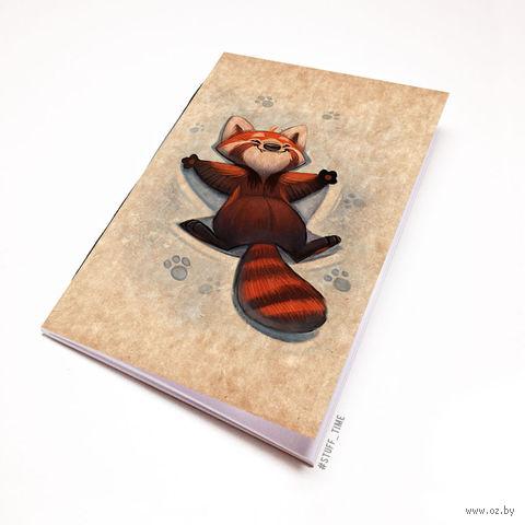 """Блокнот крафт """"Красная панда"""" (А7; арт. 968) — фото, картинка"""