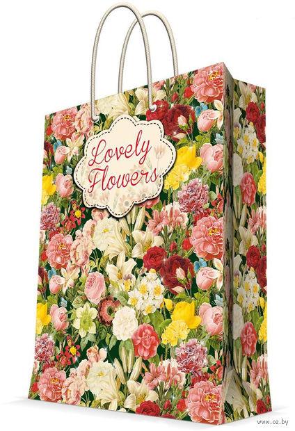 """Пакет бумажный подарочный """"Райский сад"""" (26х32,4х12,7 см; арт. 44233) — фото, картинка"""