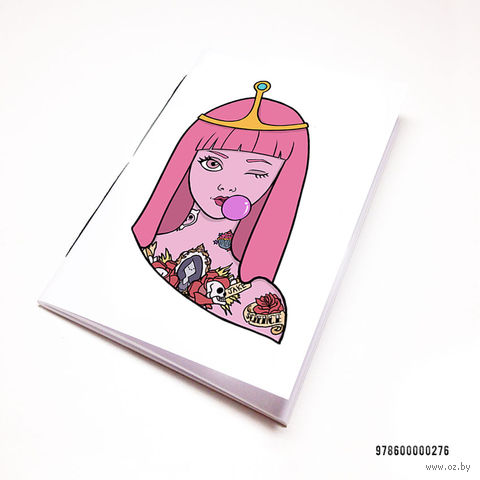 "Блокнот белый ""Время Приключений. Принцесса Бубльгум"" А7 (276)"