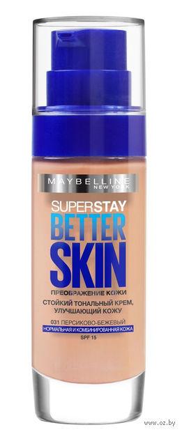 """Тональный крем для лица """"SuperStay. Better Skin"""" (тон: 031, персиково-бежевый; 30 мл)"""