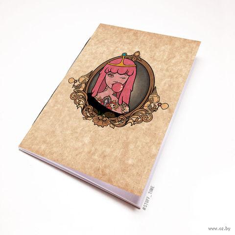 """Блокнот крафт """"Время Приключений. Принцесса Бубльгум"""" А5 (арт. 278)"""