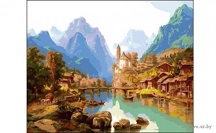 """Картина по номерам """"Горный пейзаж"""" (400x500 мм) — фото, картинка"""