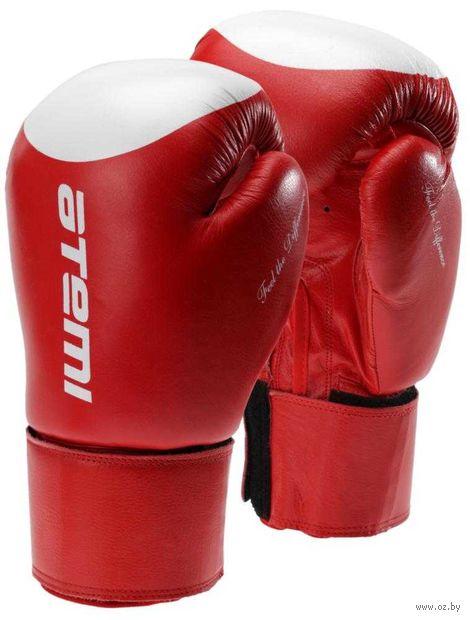 Перчатки боксёрские LTB19009 (8 унций; красно-белые/мишень) — фото, картинка