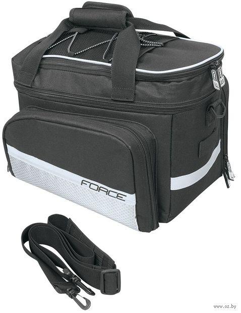 """Сумка велосипедная на багажник """"Large"""" (чёрная; арт. 896374) — фото, картинка"""