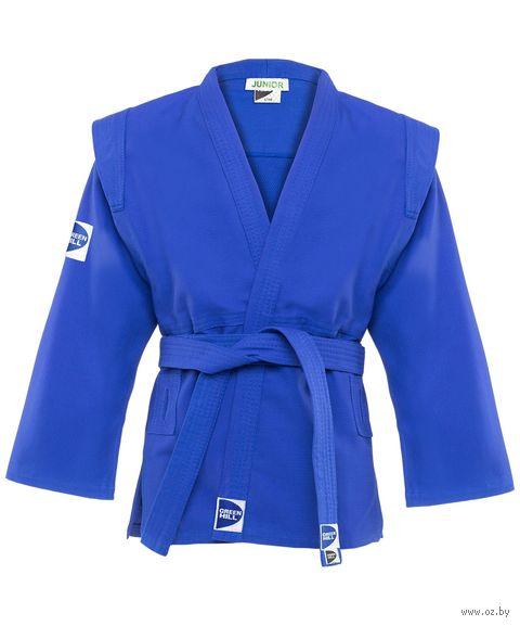 "Куртка для самбо ""Junior SCJ-2201"" (р. 1/140; синяя) — фото, картинка"
