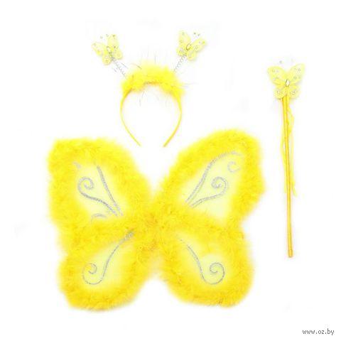 """Набор карнавальный """"Бабочка"""" (крылья с пушком, обруч, палочка) — фото, картинка"""