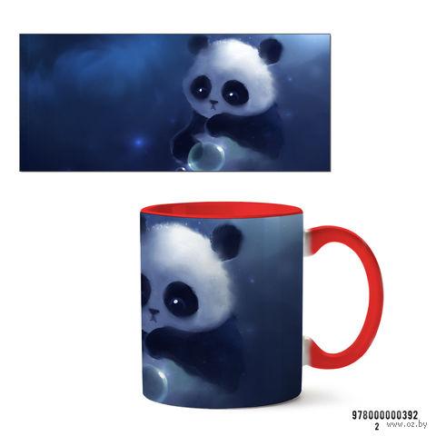 """Кружка """"Панда"""" (красная; арт. 392) — фото, картинка"""