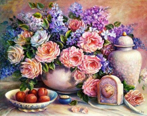 "Алмазная вышивка-мозаика ""Розовый натюрморт"""