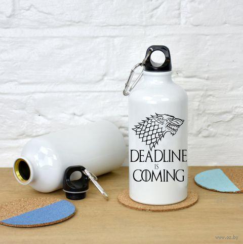 """Бутылка """"Deadline is coming"""" (500 мл; арт. 648) — фото, картинка"""
